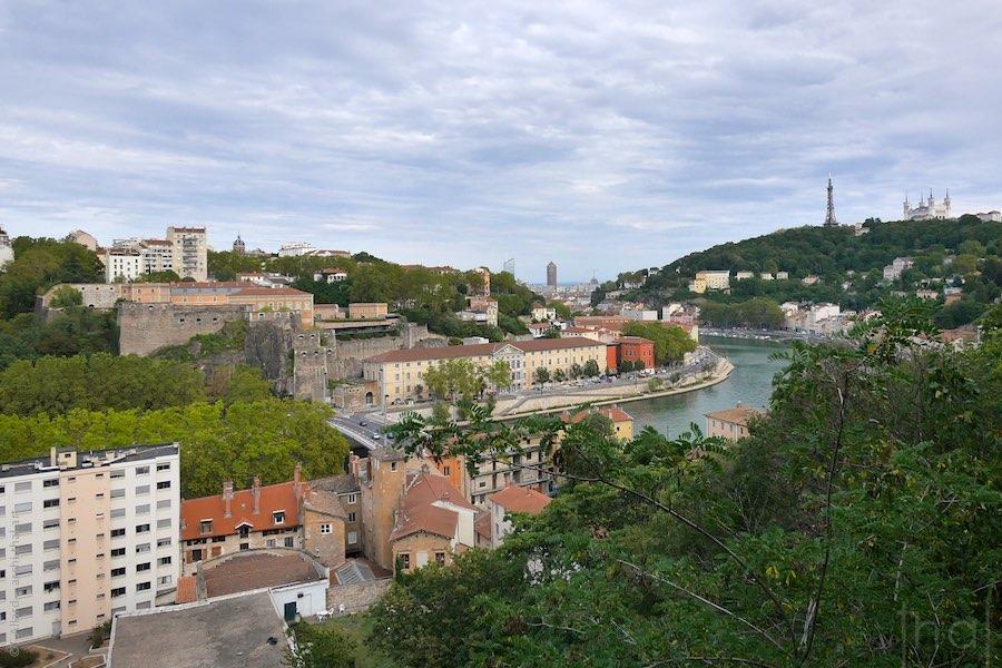 Ville de Lyon vue du fort de Vaise