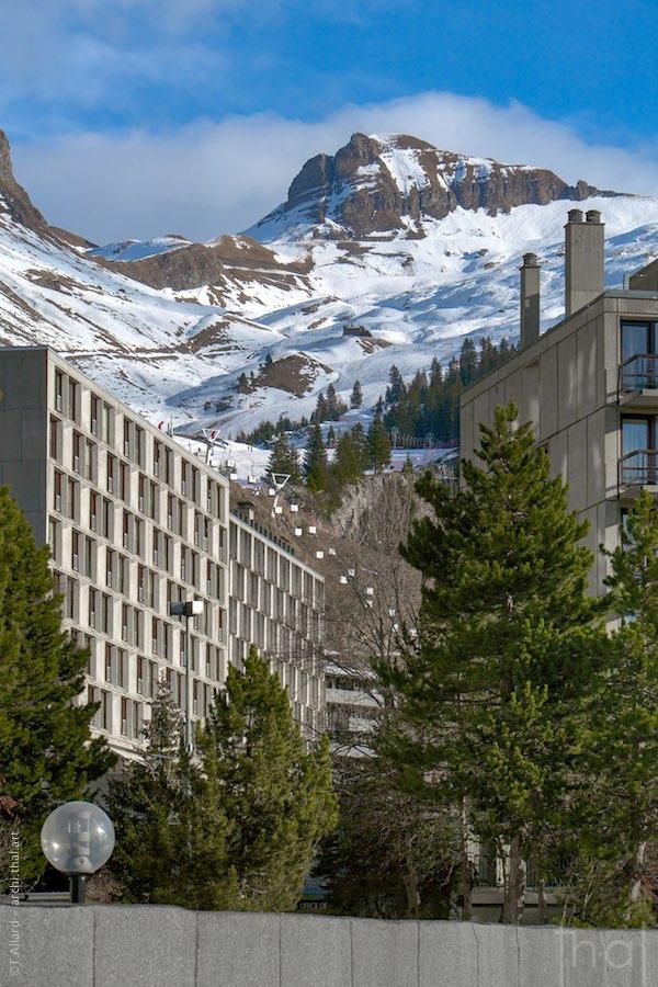 Vue d'immeubles dans la station de Flaine