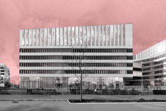 Photomontage de panoramique d'architecture