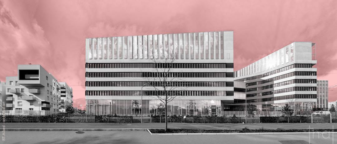Photomontage de panoramique d'architecture