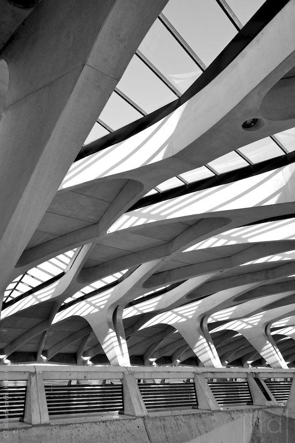 Structure en béton de la Gare TGV de Lyon Saint-Exupéry
