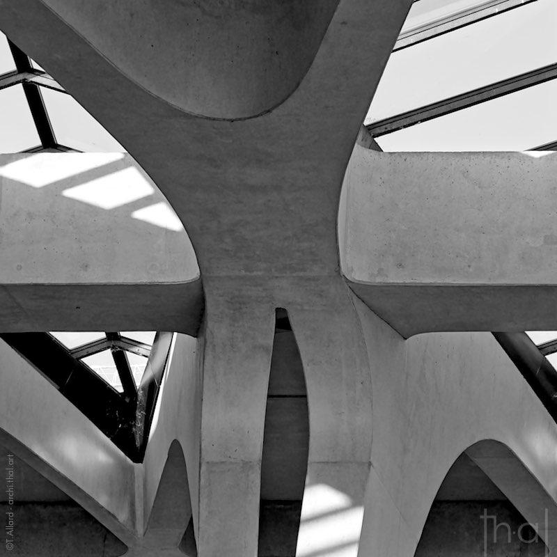 Photographie de détail d'architecture et de structure en béton