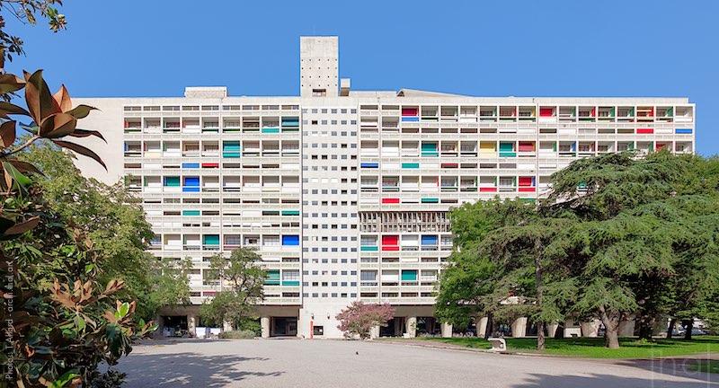 La Cité Radieuse de l'architecte Le Corbusier à Marseille