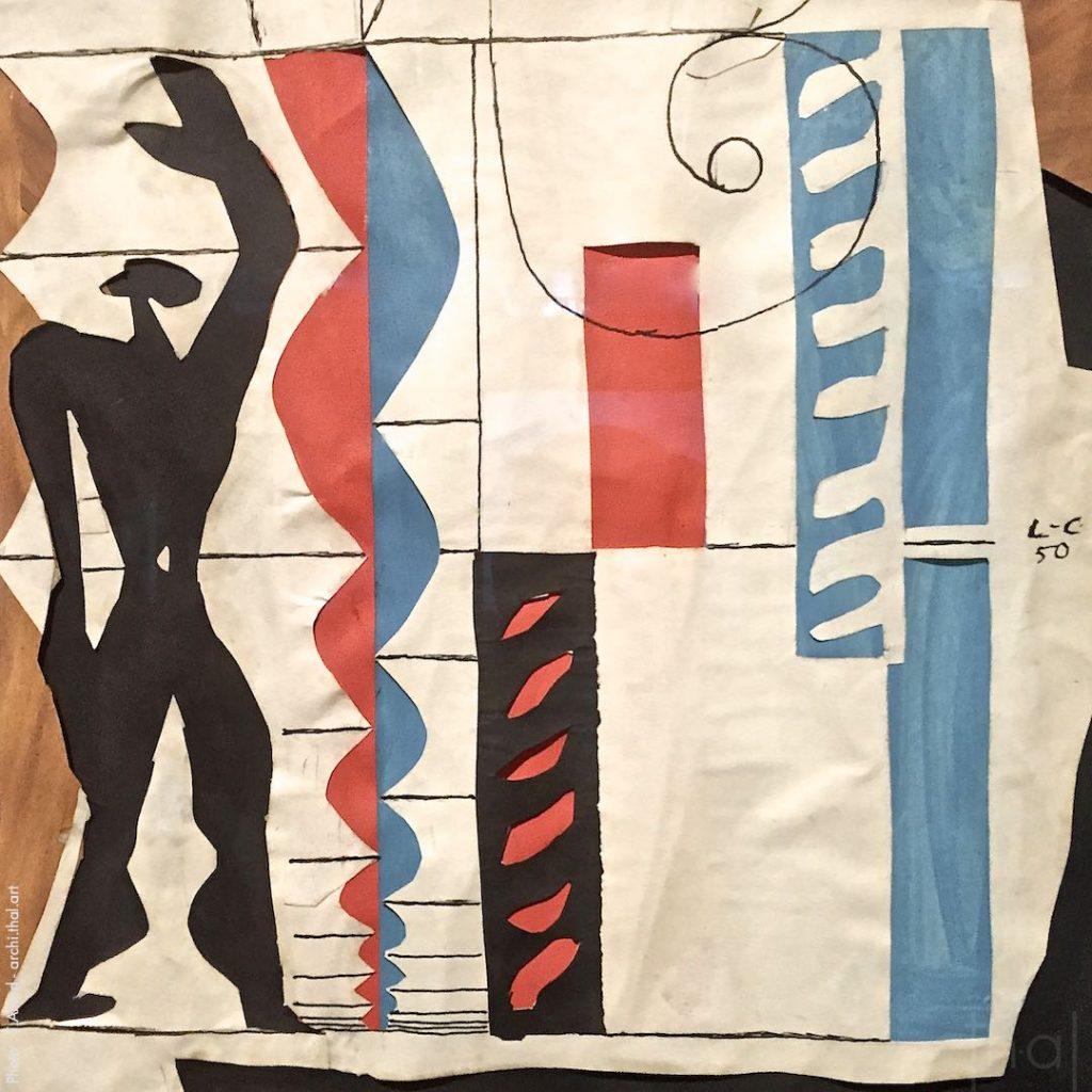 Représentation du Modulor par Le Corbusier