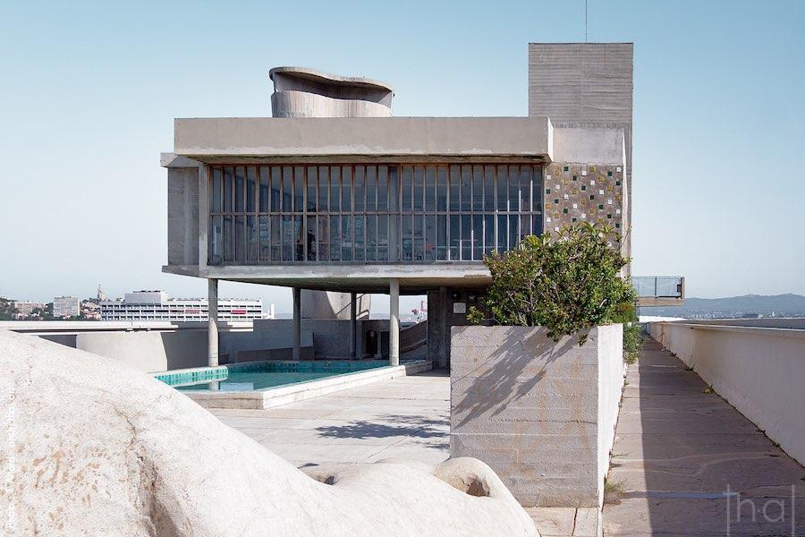 Vue du toit de la Cité Radieuse de Marseille