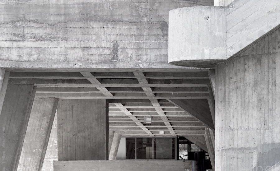 Structure béton Cité Radieuse Le Corbusier à Marseille
