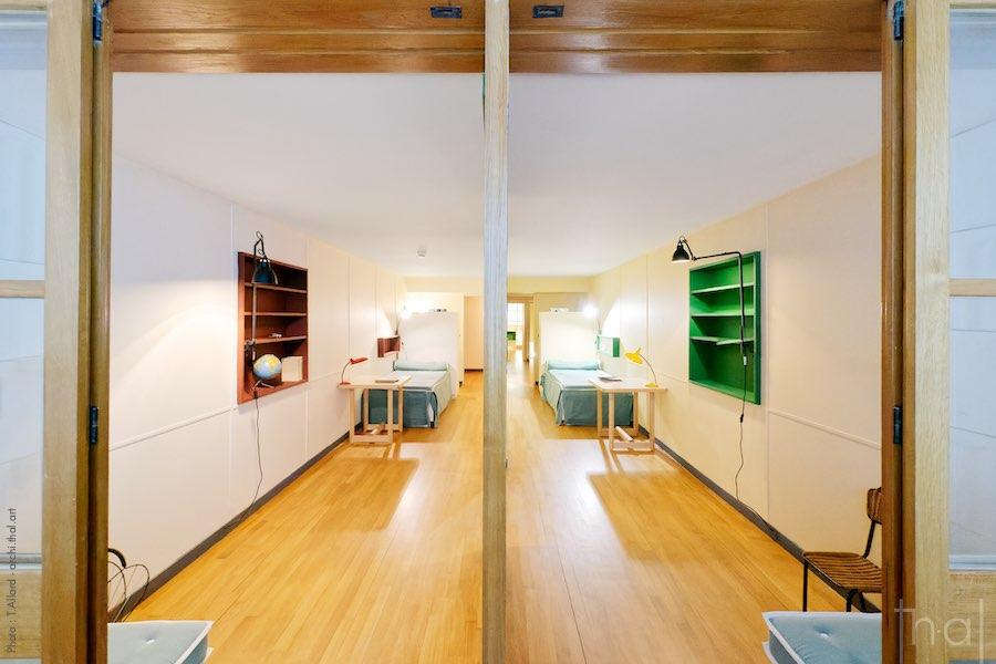 Chambres dans appartement type E2 Le Corbusier