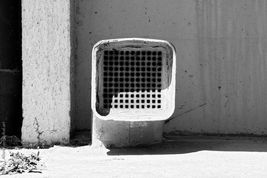 Bouche d'aération d'un immeuble des choux à Créteil