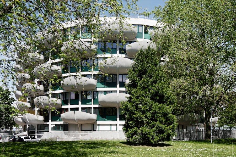 L'immeuble dahlia à Créteil par l'architecte Gérard Grandval
