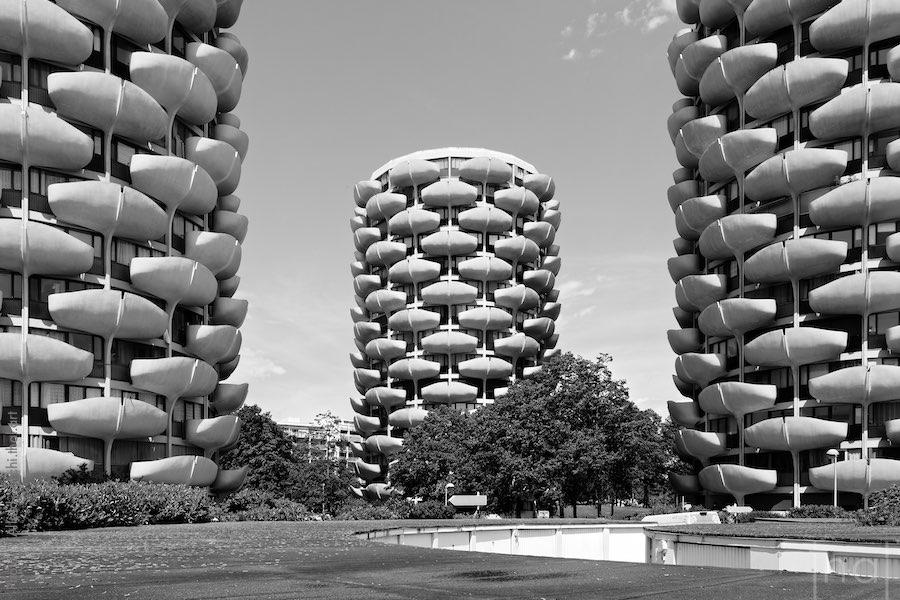 Les tours épis de maïs par l'architecte Gérard Grandval à Créteil